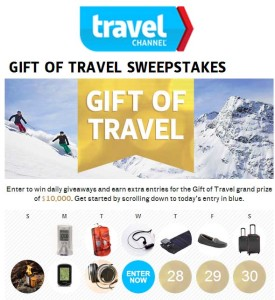 Travel Channel Sweepstakes Daily Giveaways 10 Grand Prize