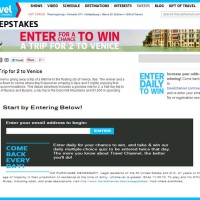 Travel Channel Sweepstakes Win a Trip to Venice