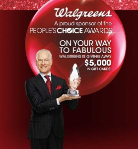 Walgreens Peoples Choice Awards Gift Card Sweepstakes