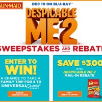 Win a Trip to Universal Orlando Despicable Me 2 Sun Maid Sweepstakes
