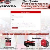 Win an ATV Honda Indy Grand Prix Trip Sweepstakes