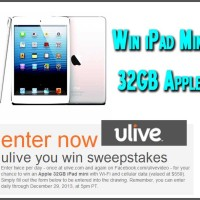 Win an iPad Mini 32gb uLive Sweepstakes