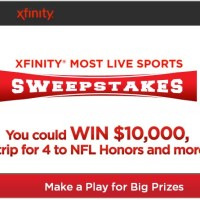 Xfinity Sweepstakes Win Cash Trips and Electronics