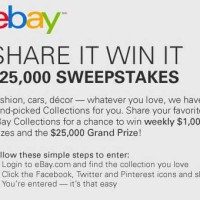 eBay Share it Win it 25,000 Sweepstakes