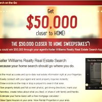 50k Keller Williams Sweepstakes Real Estate App Search