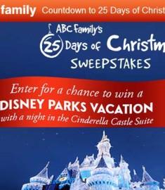 Abc Family Christmas.Abc Family S 25 Days Of Christmas Sweepstakes Sweeps Maniac