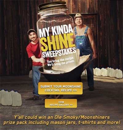 My Kind of Moonshine Discovery Sweepstakes - Sweeps Maniac