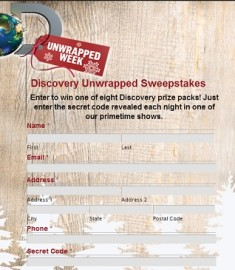 Discovery Channel's UnWrapped Week Sweepstakes Secret Codes Revealed