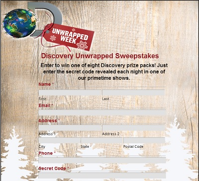 Discovery Channel | UnWrapped Week Sweepstakes Secret Codes