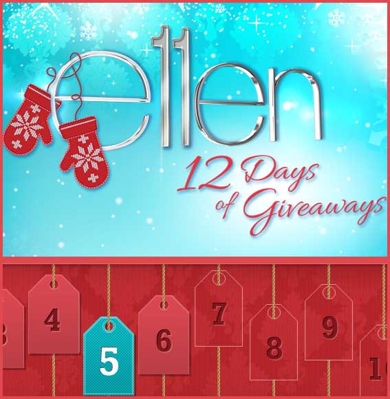 Ellen tv 12 days of giveaways 2018