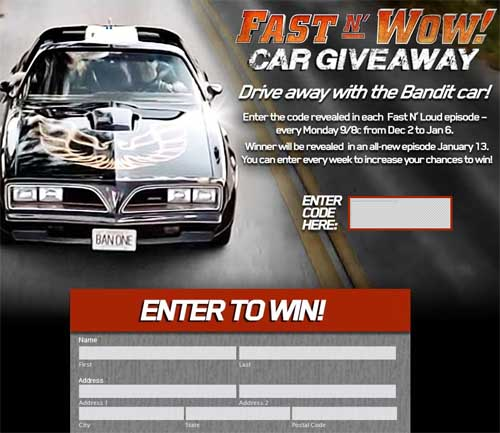 Fast and loud giveaway