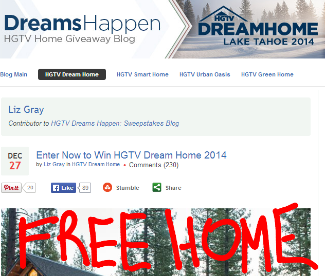 HGTV Dream Home Sweepstakes 2014 Lake Tahoe Retreat