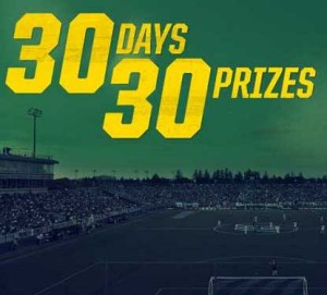 Enter to win prizes daily with the 30 Days 30 Prizes Soccer