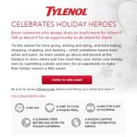 Tylenol Celebrates Holiday Heroes Photo Contest