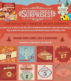 Walmart Holiday Countdown 7 weeks of Holiday Giveaways