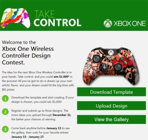 Enter to win $1,000 with the Xbox One Design Contest. The Xbox One Wireless Controller Design Contest is a fun gaming contest which could see you winning some serious cash!