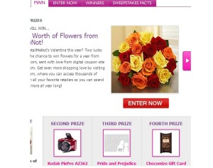 All you sweepstakes win a years worth of flowers 2014