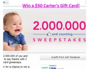 Carter's Gift Card Sweepstakes