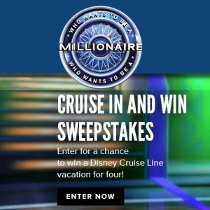 Disney Cruise in and Win Sweepstakes win a Disney Cruise Vacation