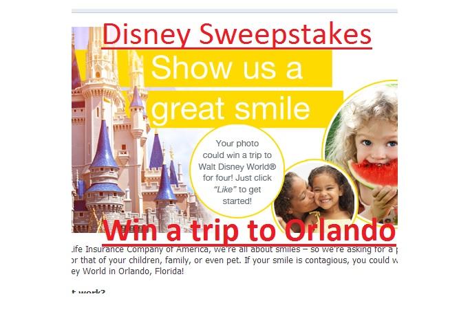 Disney sweepstakes 2014 win a trip to Orlando
