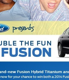 Double the fun with Fusion Ford Sweepstakes Fox