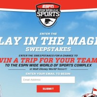 ESPN win a trip for your team Disney sweepstakes