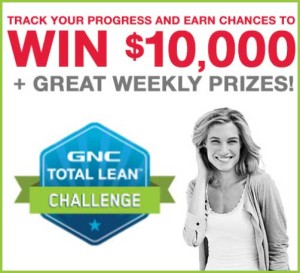 GNC Total Lean Challenge 10k Weekly Prizes Free Cash Giveaway