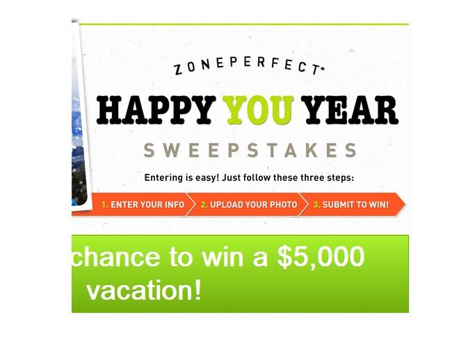 ZonePerfect Happy You Year Sweepstakes - Sweeps Maniac