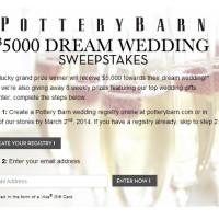 Pottery Barn Dream Wedding Sweepstakes
