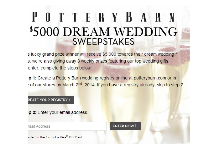 wedding sweepstakes to make your wedding everything you want it to be