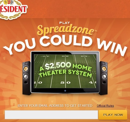 President cheese spreadzone sweepstakes 2014 sweeps maniac for Win a home contest