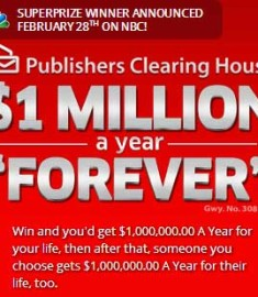 PCH Win $1 Million a Year Forever Sweepstakes - Sweeps Maniac