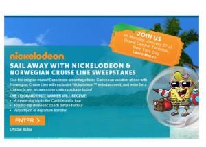 Sail Away With Nickelodeon Norwegian Cruise Line Sweepstakes - Nickelodeon cruise ships