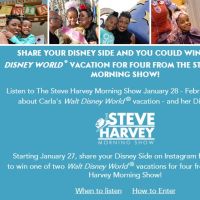 Steve Harvey Share your Disney side sweepstakes
