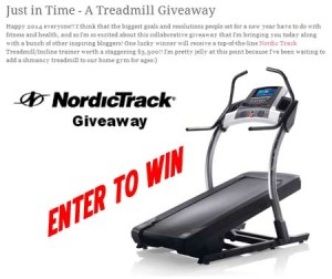 Win a Free NordicTrack Treadmill Giveaway 2014