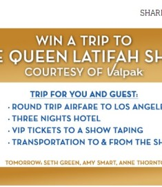 Win a trip Queen Latifah Show