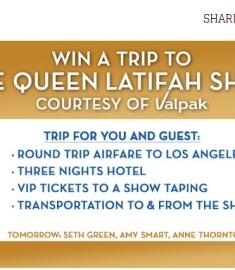 Win a trip Queen Latifah Show