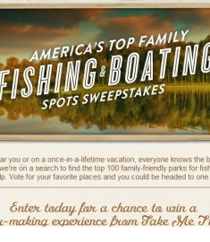 America Top Family fishing and boating spots sweepstakes