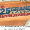 HGTV 25 Grand in your hand sweepstakes