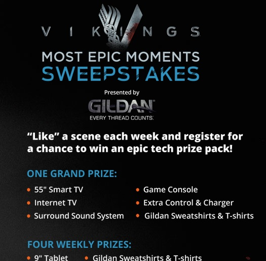 History Channel Vikings Most Epic Moments Sweepstakes