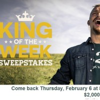 King of the week sweepstakes 2014