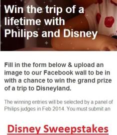 Win a trip to Disney sweepstakes 2014