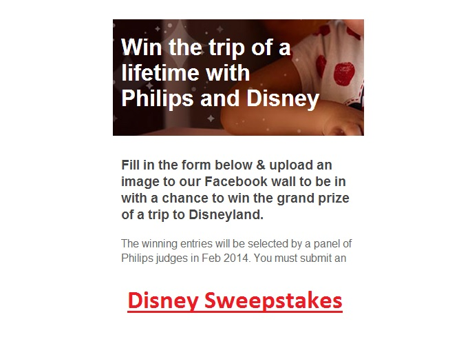 Win a trip to Disney sweepstakes 2014