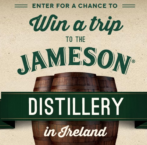 Win a trip to the Jameson Distillery in Ireland