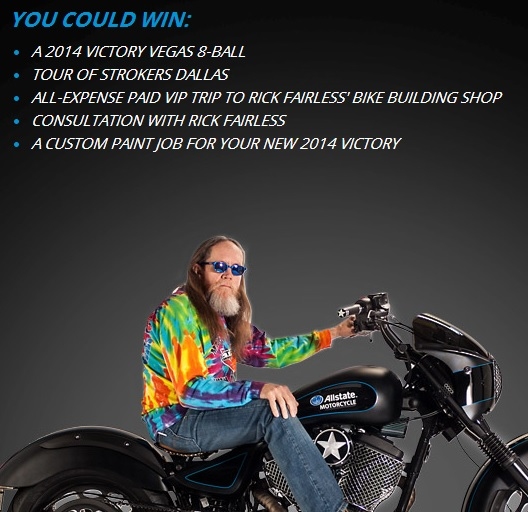 Allstate motorcycle sweepstakes
