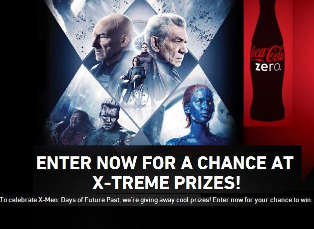 Coke Zero X-Men Instant Win Sweepstakes - Sweeps Maniac
