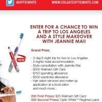 Colgate Optic White Sweepstakes