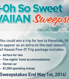 Five-oh so sweet hawaiian sweepstakes