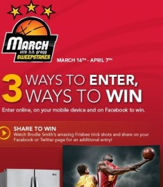 March in to H.H.Gregg sweepstakes