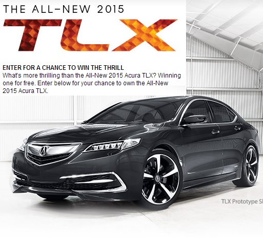 Enter to win a 2015 Acura TLX sweepstakes